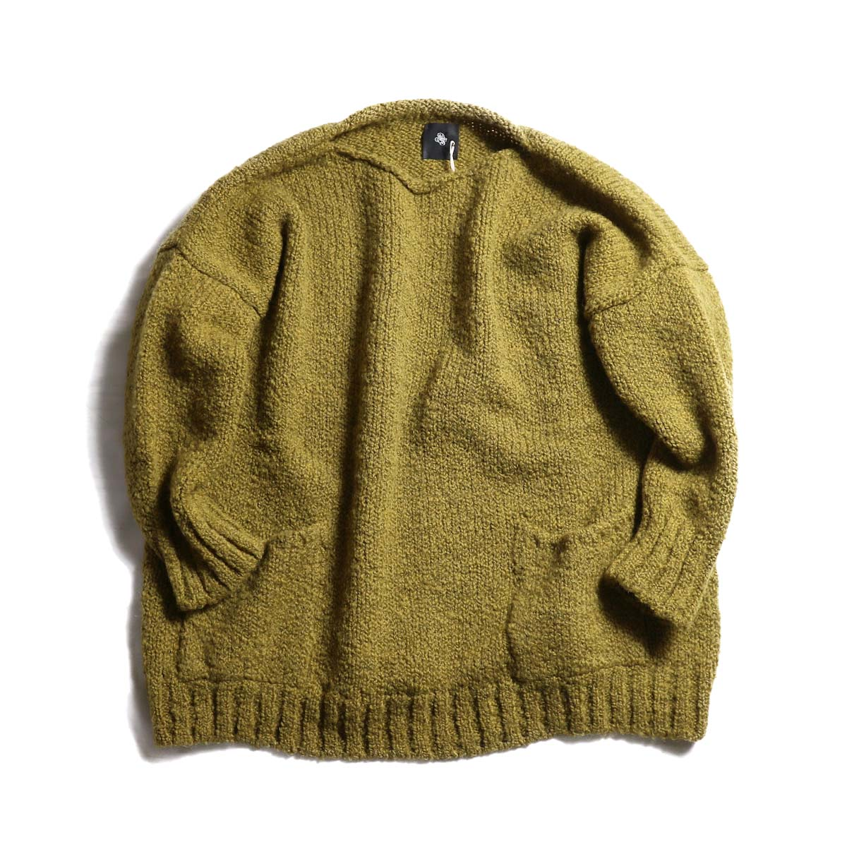 maison de soil / CNMDS1762 Crew Neck Pullover With Pocket -MUSTARD