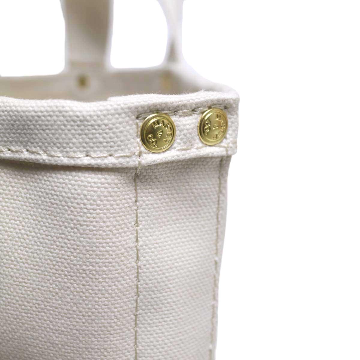 MASTER & Co. / RAILMAN BAG (White S) 刻印入りのリベット