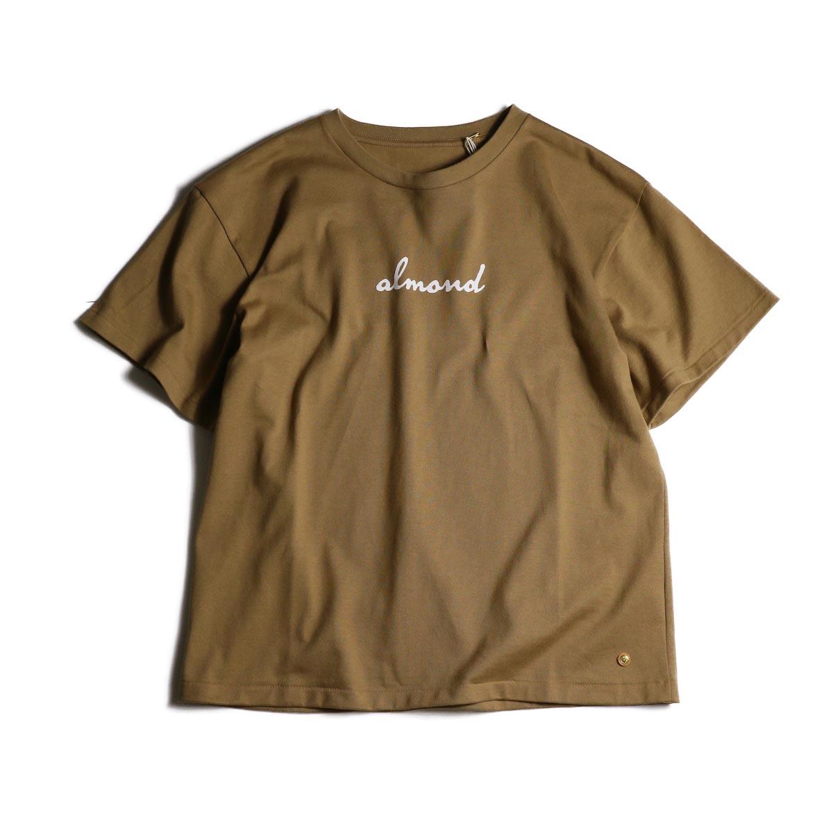 MASTER & Co. / Print T-Shrit (almond)正面