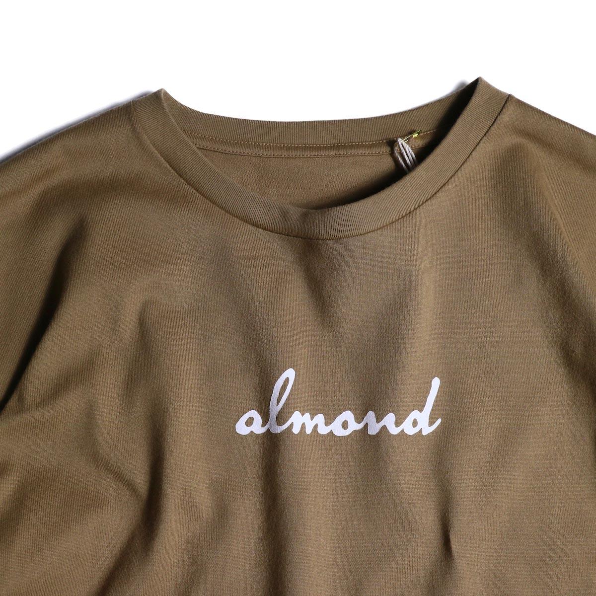 MASTER & Co. / Print T-Shrit (almond)ボートネック