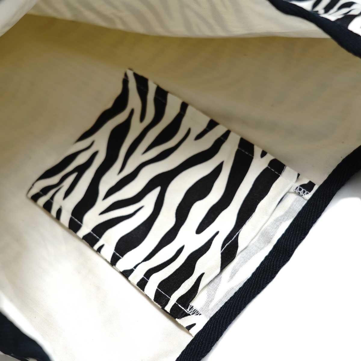 MASTER & Co. / ECO BAG SMALL (Zebra) 内ポケット