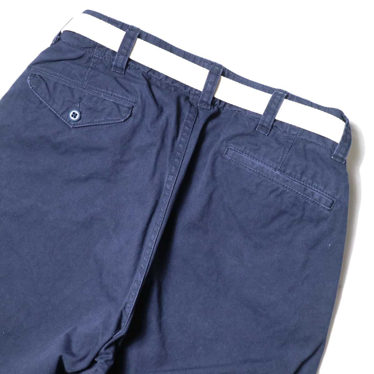 MASTER&Co. / ONE WASHED DENIM LONG PANTS 背面アップ