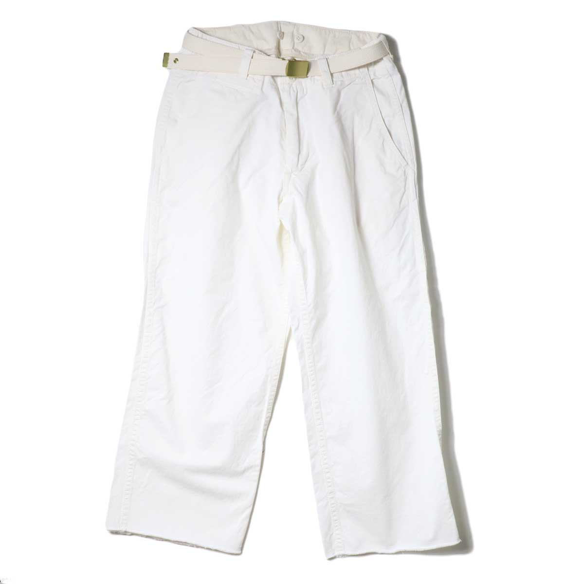 Master&Co. / CUT OFF PANTS (White)