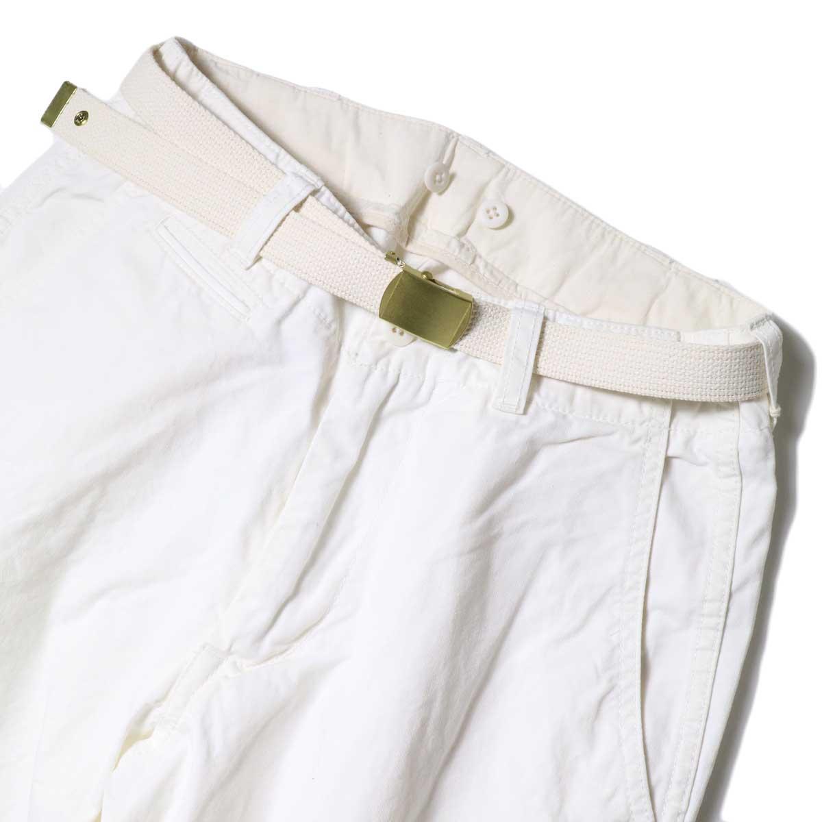 Master&Co. / CUT OFF PANTS (White) フロントアップ①