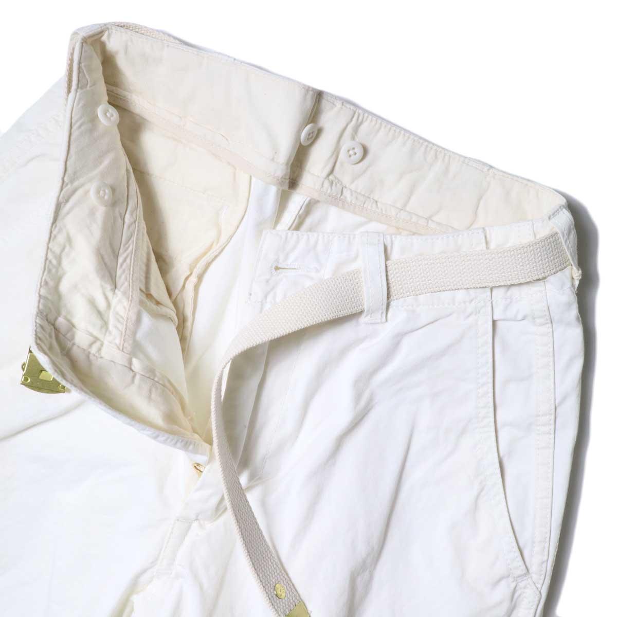 Master&Co. / CUT OFF PANTS (White) フロントアップ②