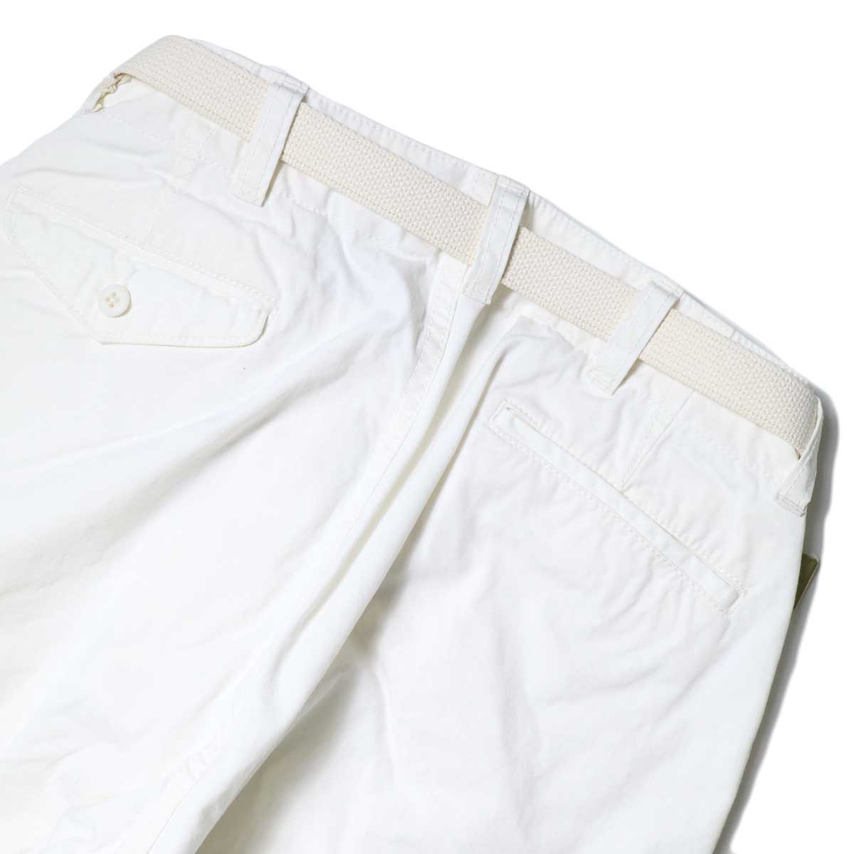 Master&Co. / CUT OFF PANTS (White) 背面アップ