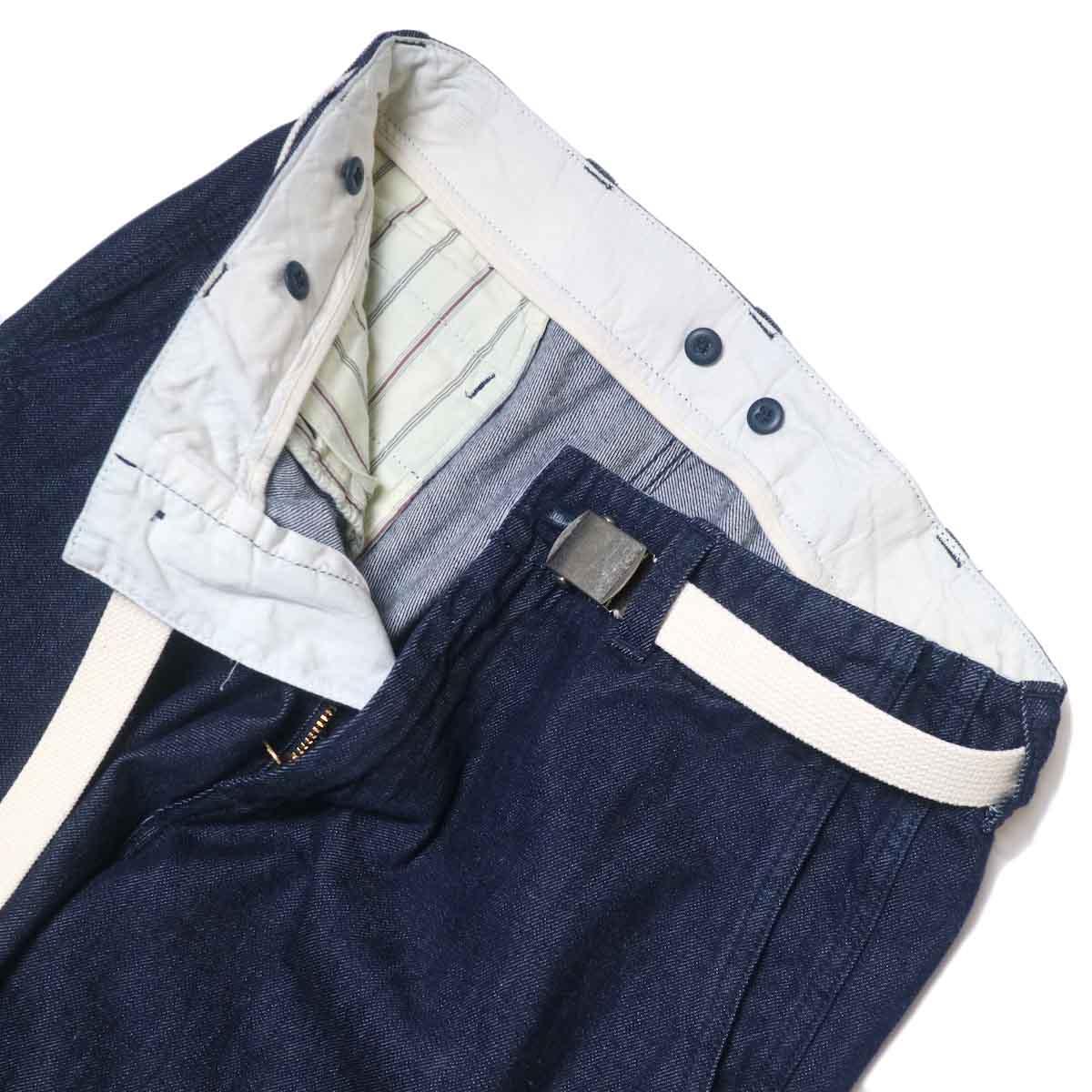 MASTER&Co. / ONE WASHED DENIM LONG PANTS フロントアップ②