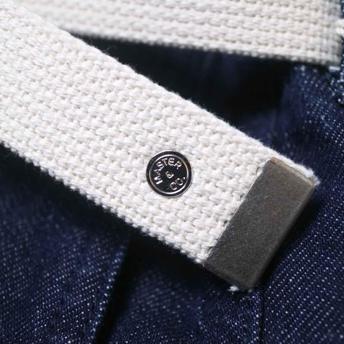 MASTER&Co. / ONE WASHED DENIM LONG PANTS ベルト刻印