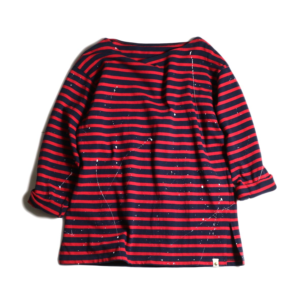 MASTER & Co. / Basque Border With Paint (Navy × Red)正面