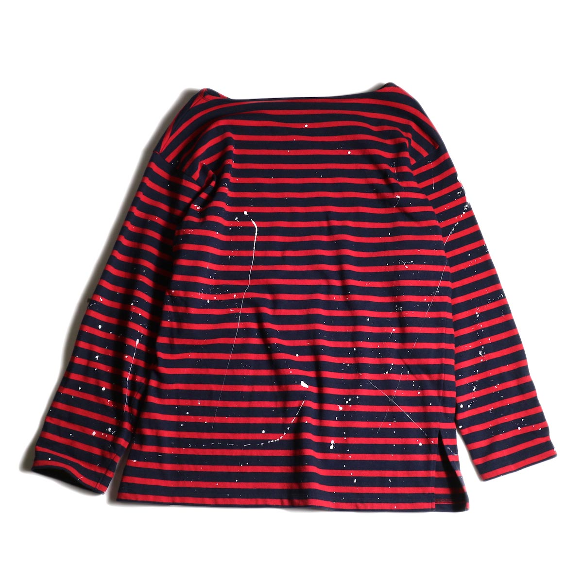 MASTER & Co. / Basque Border With Paint (Navy × Red) 背面