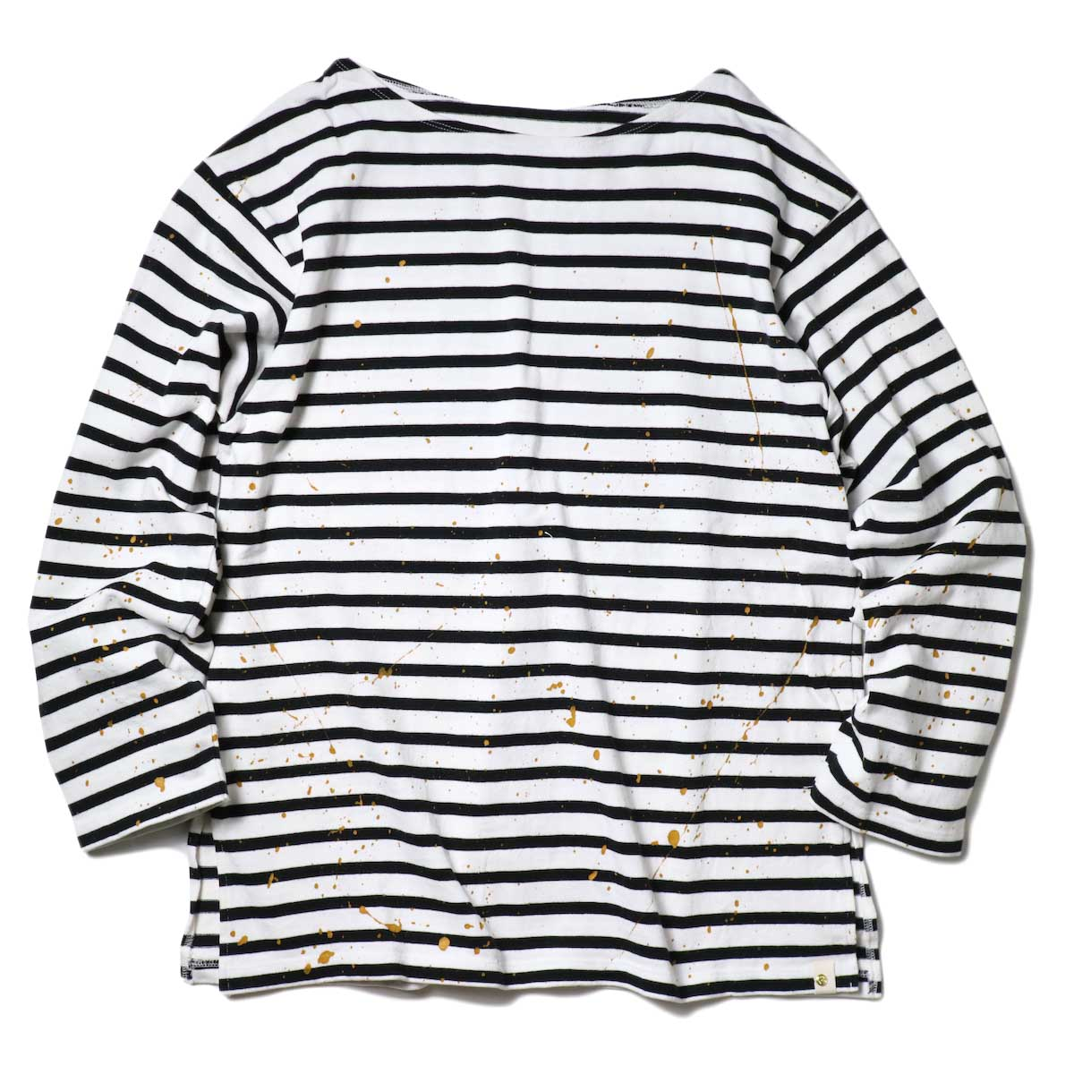 MASTER&Co. / BASQUE BORDER WITH PAINT (White×Black)