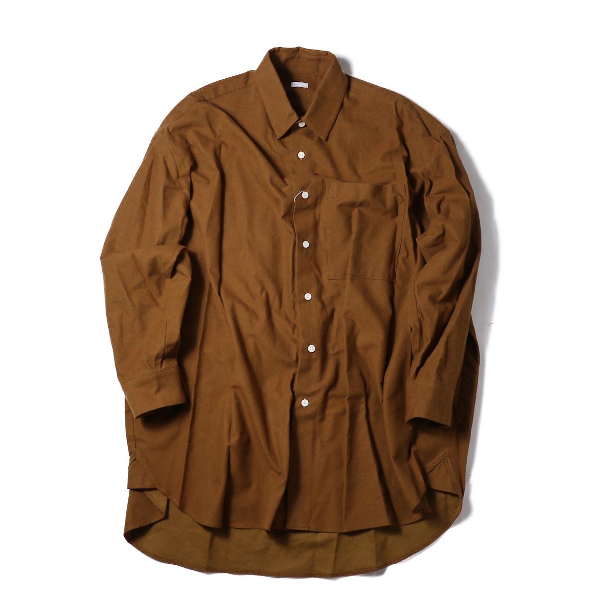MY_  / Big LS Shirts -BROWN