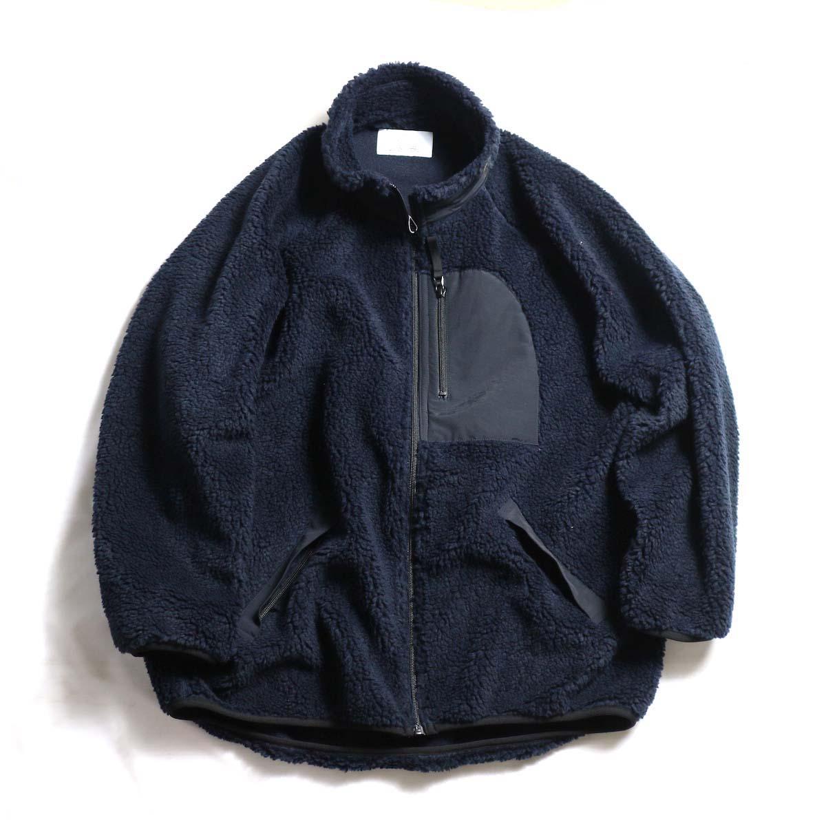 MY_  / Boa Fleece Zip Blouson -NAVY