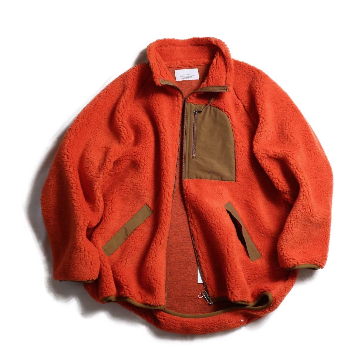 MY_  / Boa Fleece Zip Blouson -ORANGE