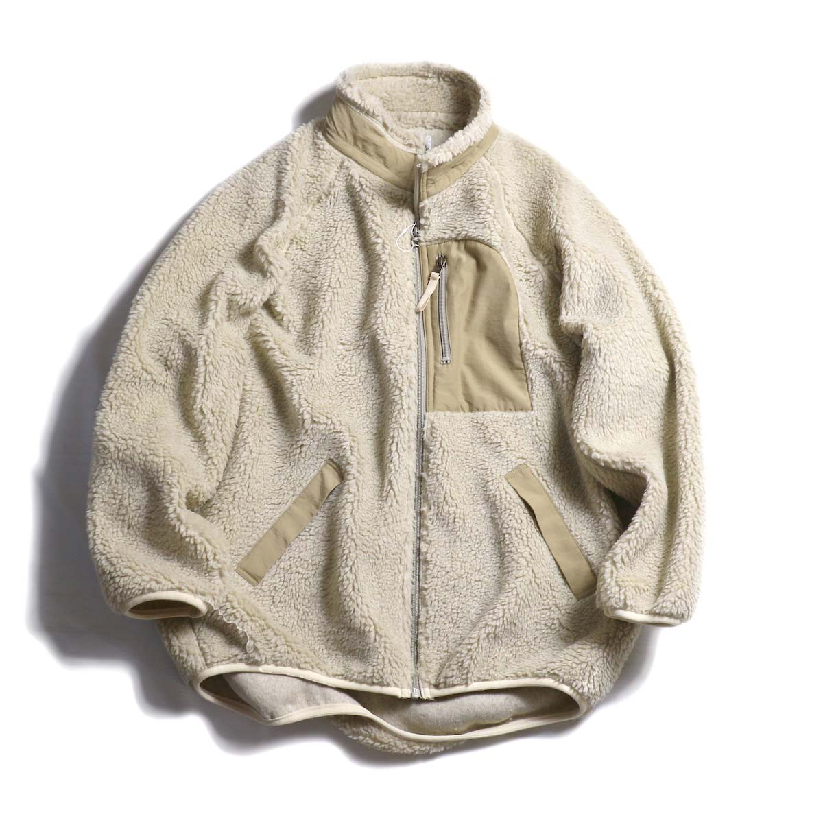 MY_  / Boa Fleece Zip Blouson -WHITE