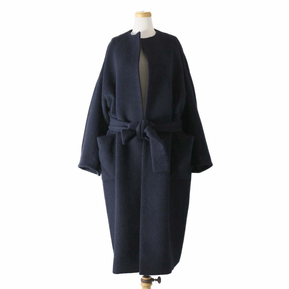 MY_  / Shaggy Wool Coat -NAVY