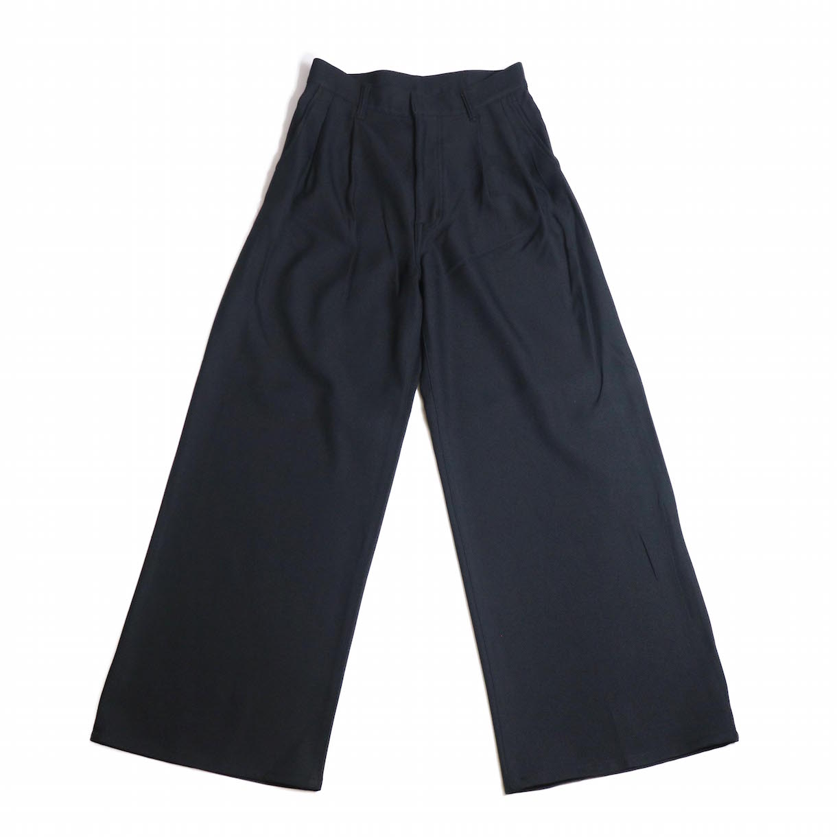 MY _ / STA PREST PANTS-BLACK