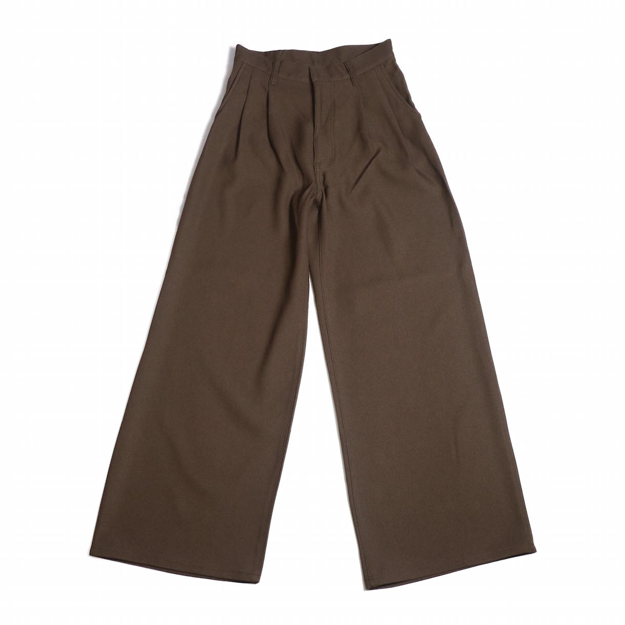 MY _ / STA PREST PANTS- BROWN