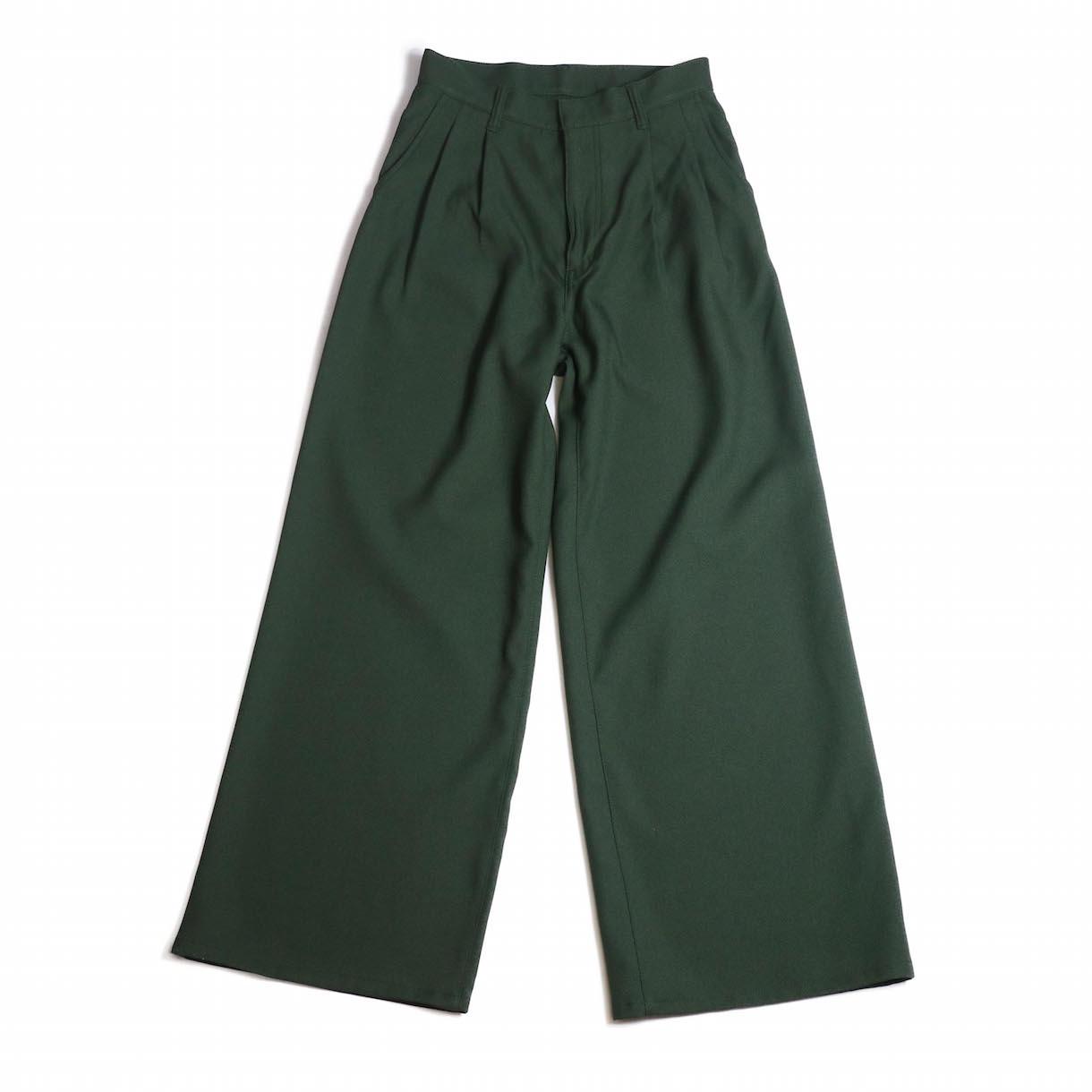 MY _ / STA PREST PANTS-DARK GREEN