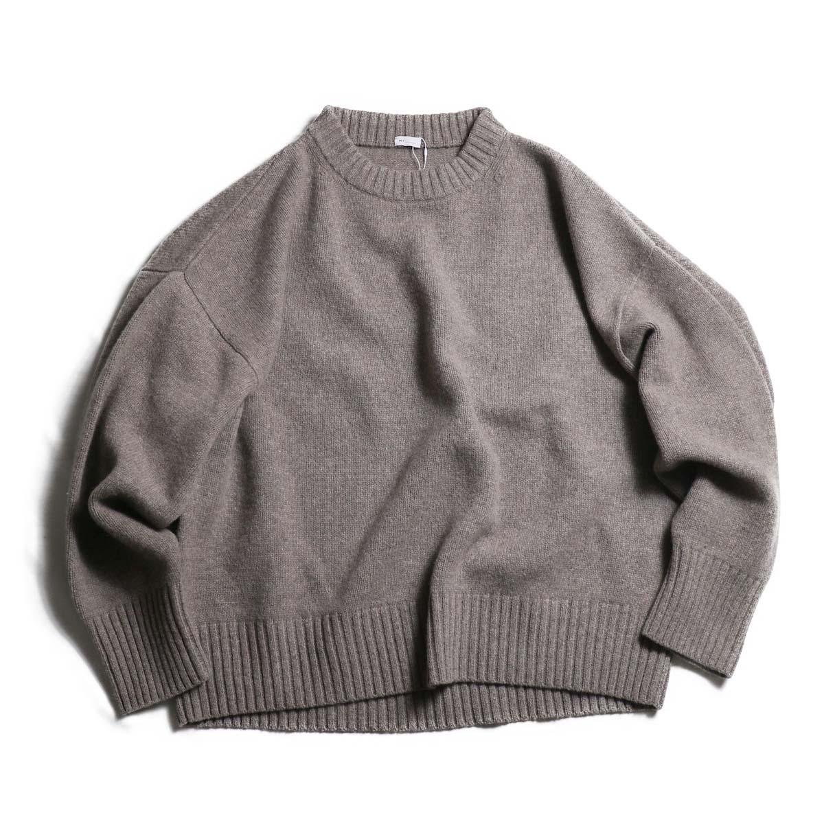 MY_  / Merino Wool Crew Neck Knit -GRAY