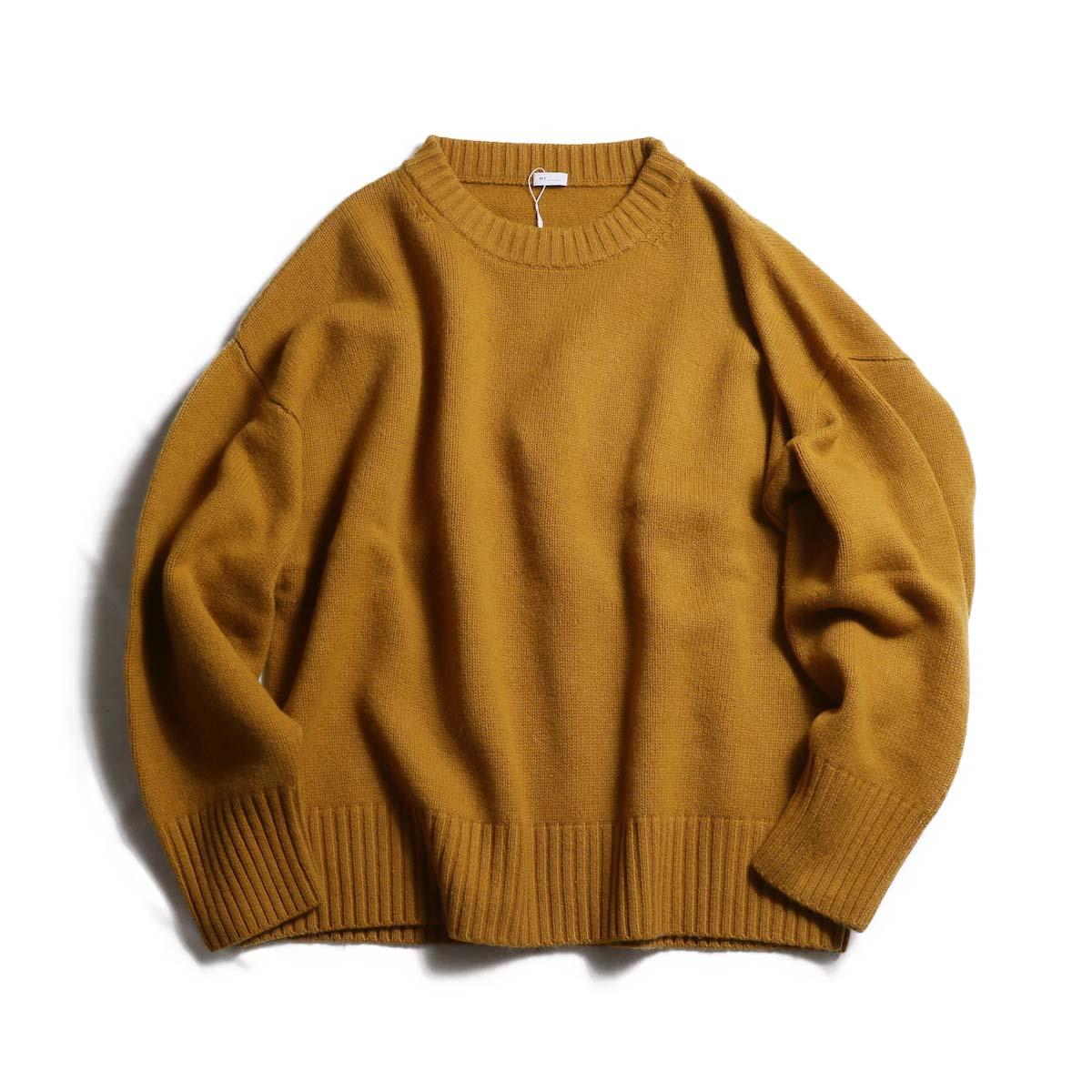 MY_  / Merino Wool Crew Neck Knit -MUSTARD