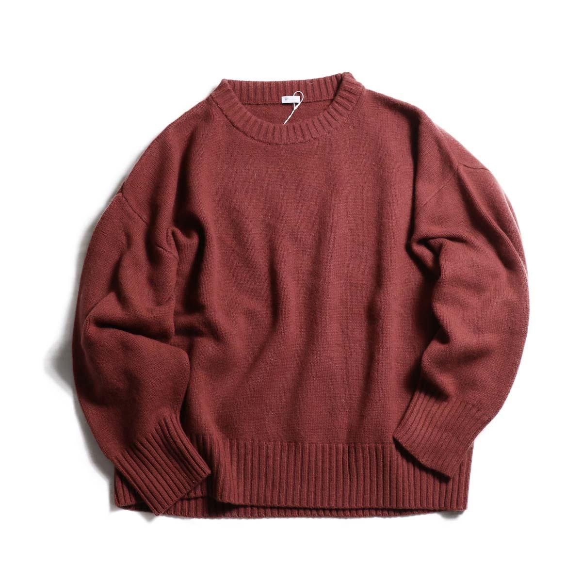 MY_  / Merino Wool Crew Neck Knit -TERACOTTA