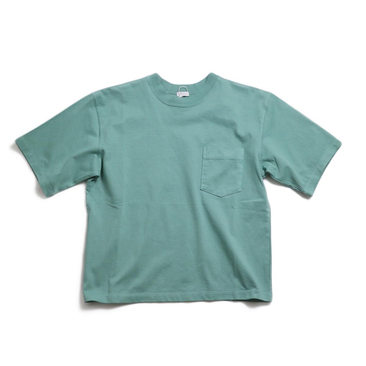 MY_ / Yaah Dozume Pocket T-Shirt -L.Green