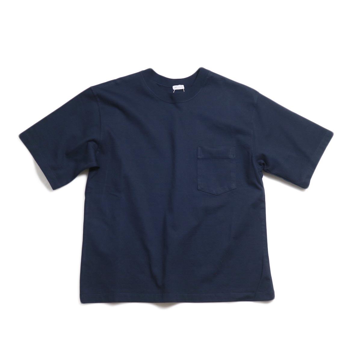 MY_ / Yaah Dozume Pocket T-Shirt -Navy