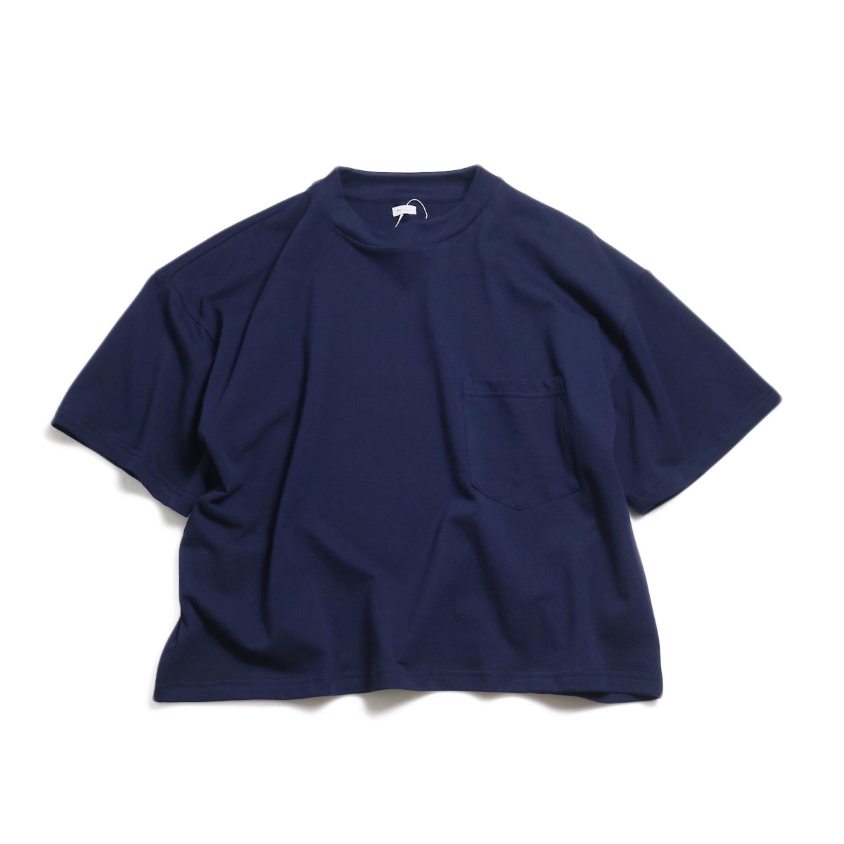 MY_ / Pique T-Shirt -Navy