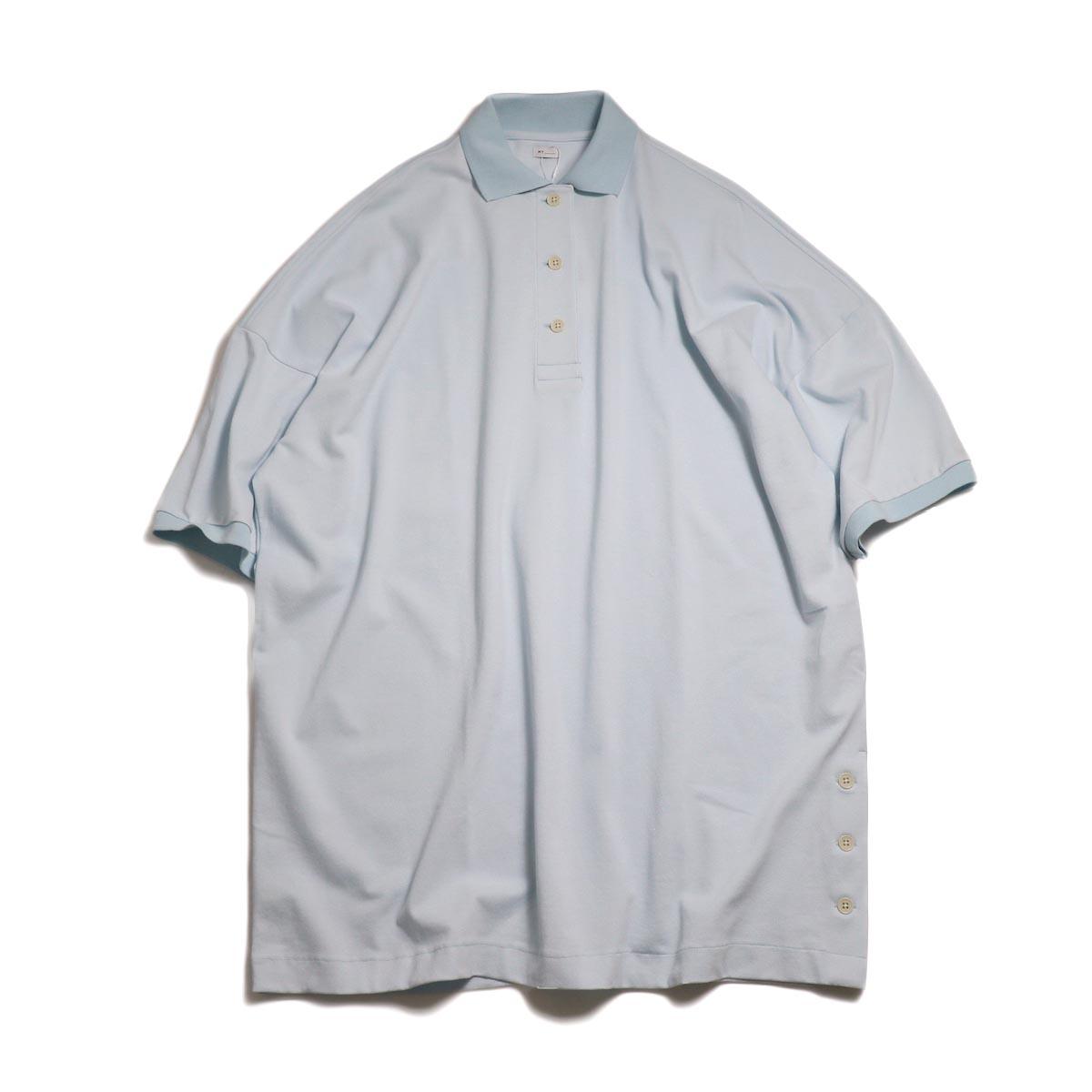MY_ / Polo Shirt One Piece -L.Blue