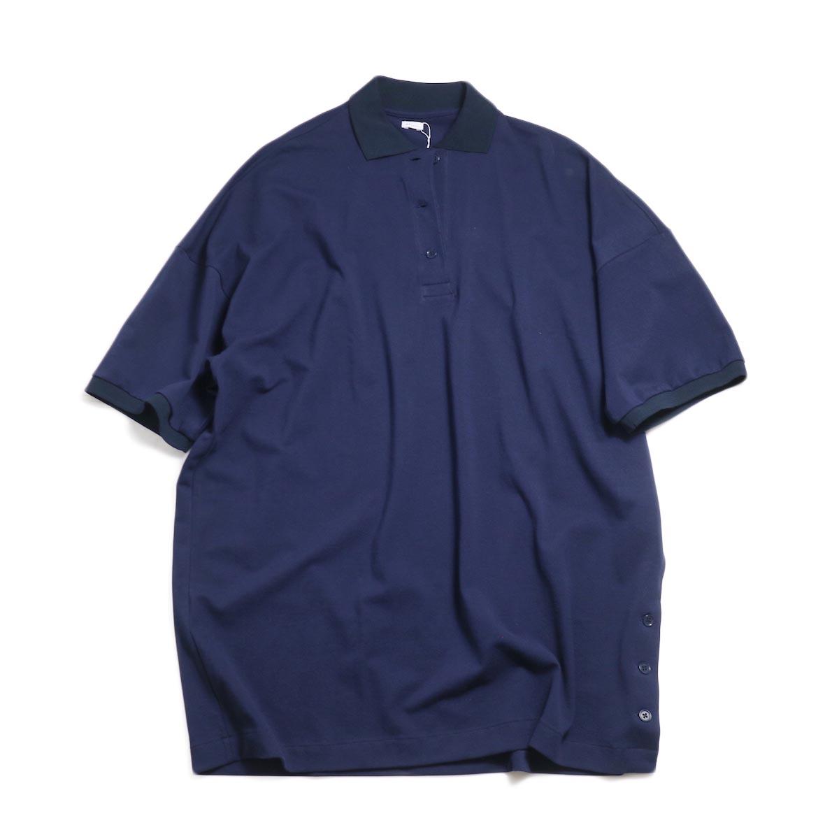MY_ / Polo Shirt One Piece -Navy