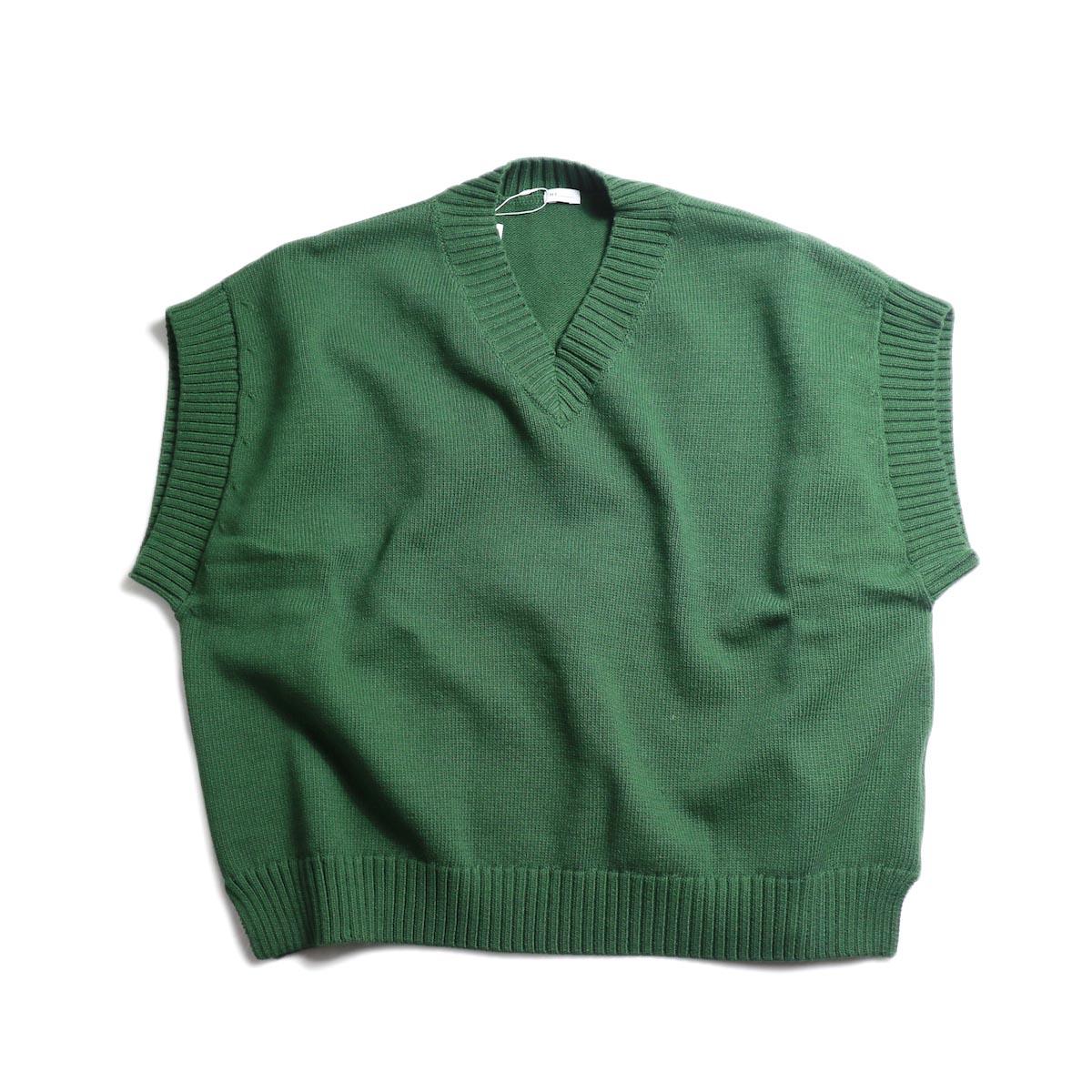 MY_ / Lily Yarn Knit Vest -Green