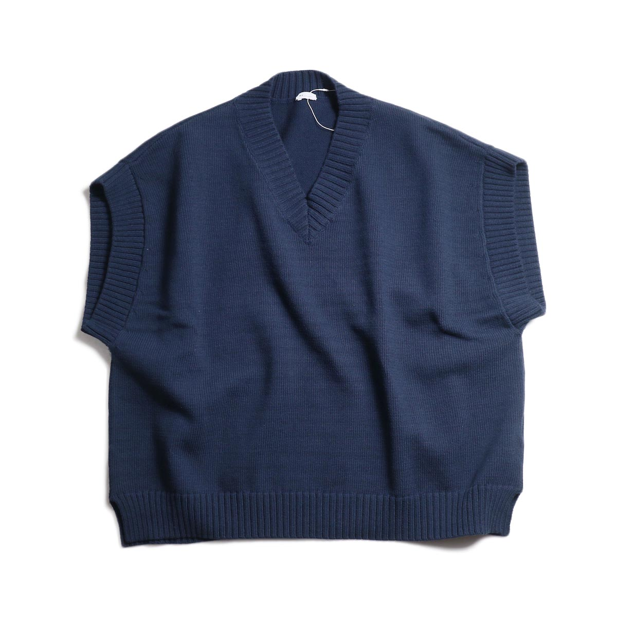 MY_ / Lily Yarn Knit Vest -Navy