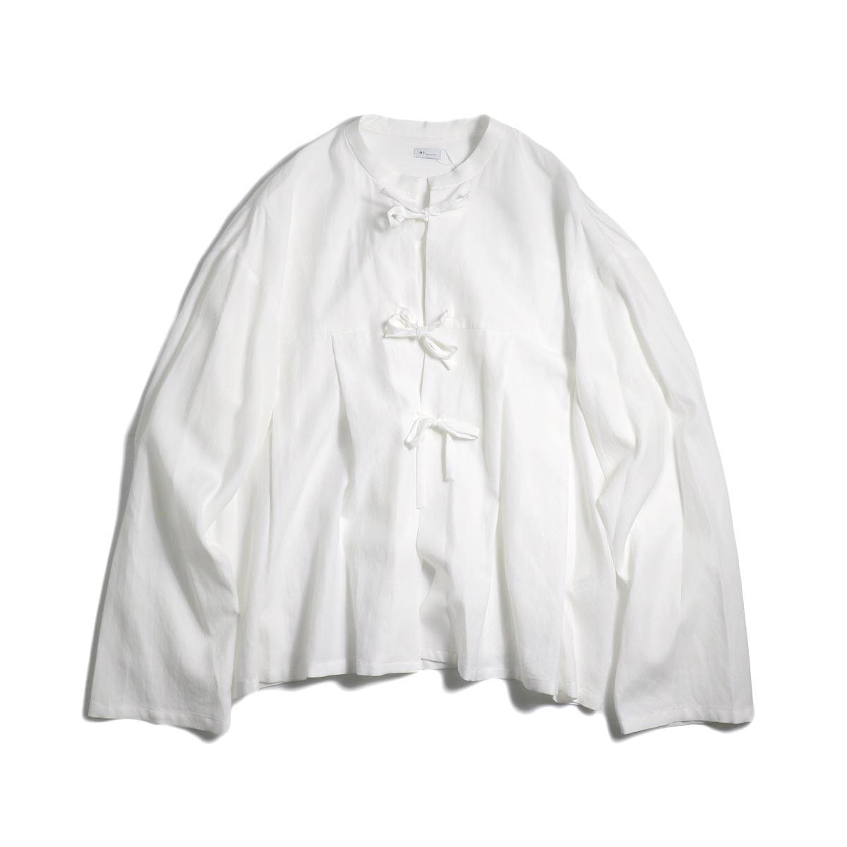 MY_ / Peplum Blouse -White