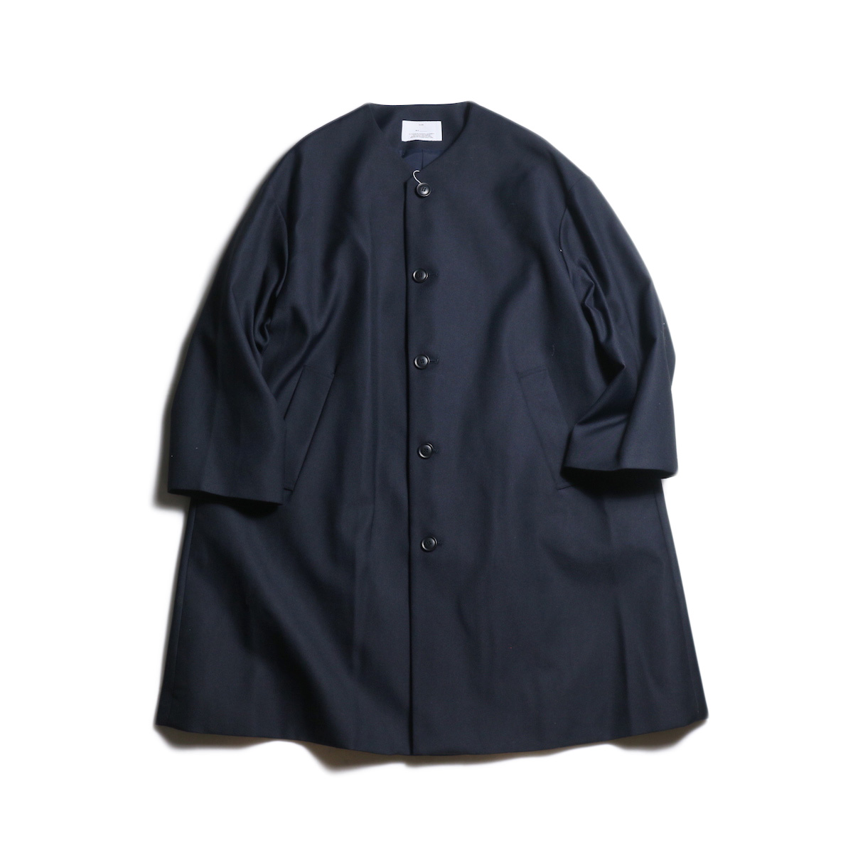 MY_ / FLARE COAT (Navy)