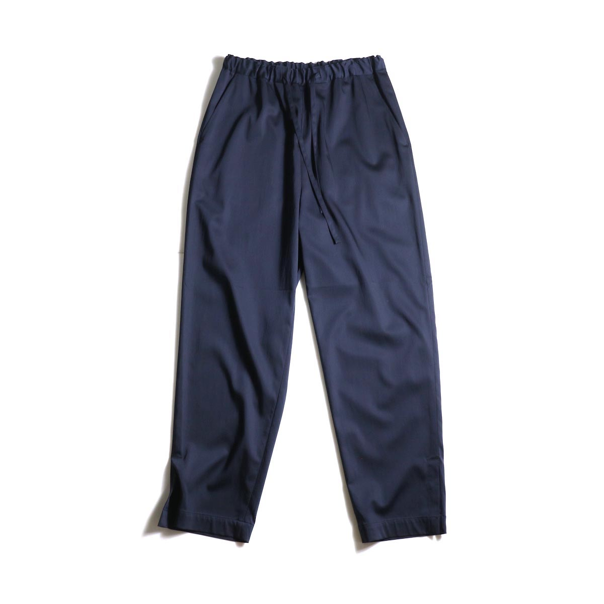 MY___ / EASY GATHER PANTS (Navy)正面