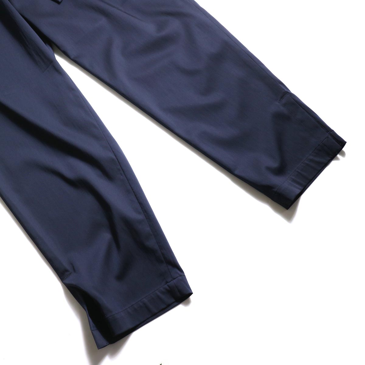 MY___ / EASY GATHER PANTS (Navy)裾