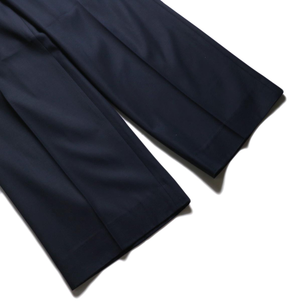 MY_ / 2TUCK WIDE SLACKS (Navy)裾