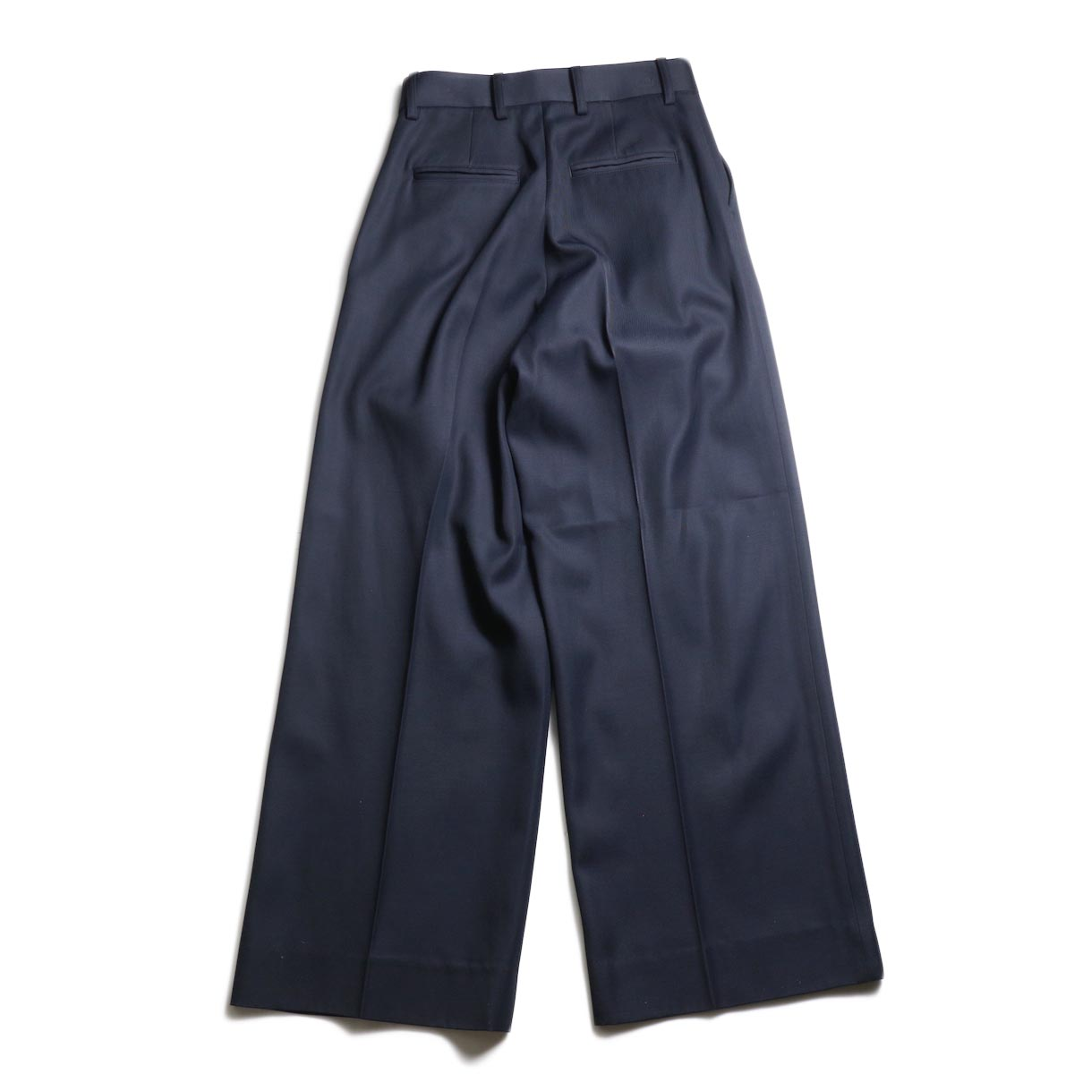 MY_ / 2TUCK WIDE SLACKS (Navy)背面