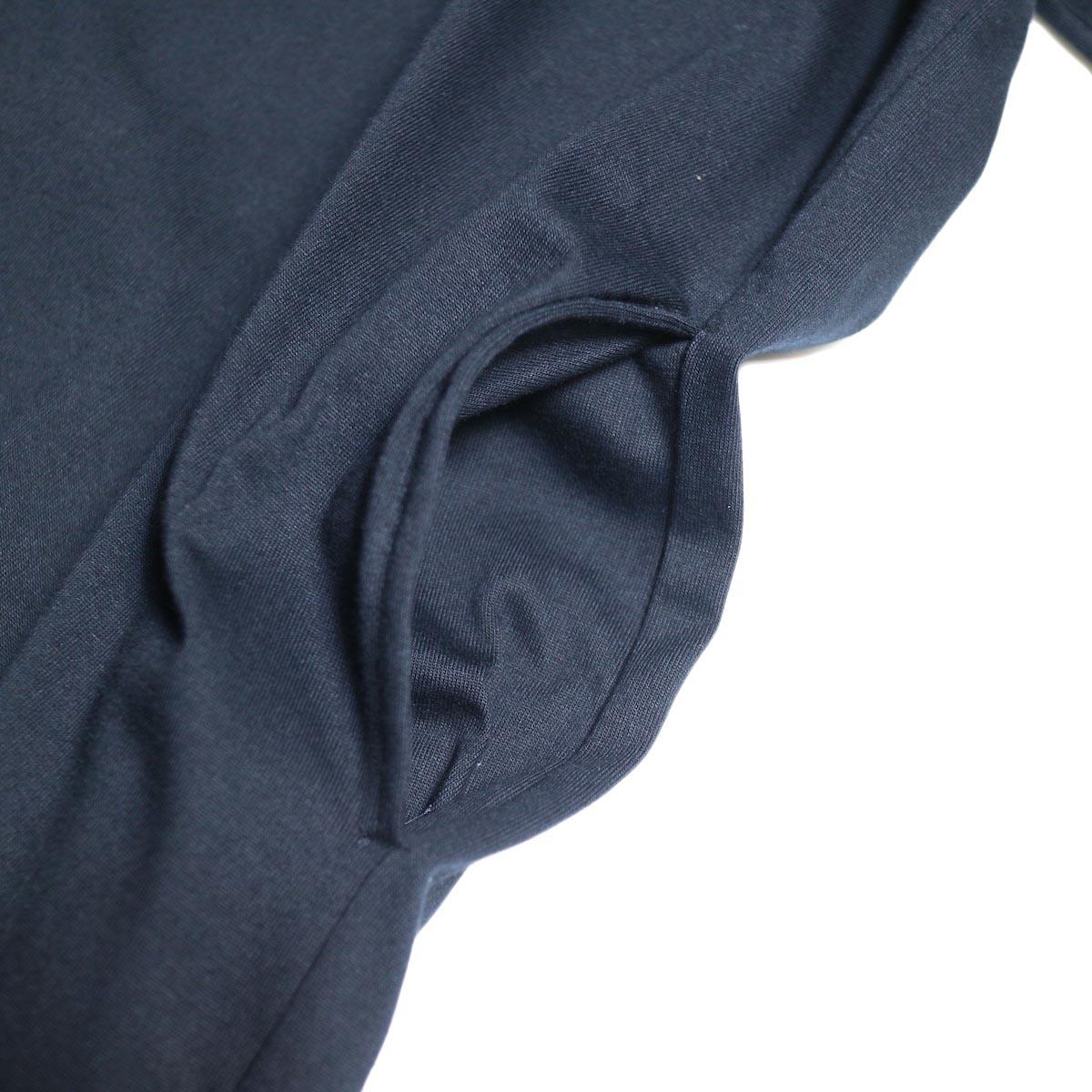 MY___ / YAAH LONG ONEPIECE TEE(navy) スラッシュポケット