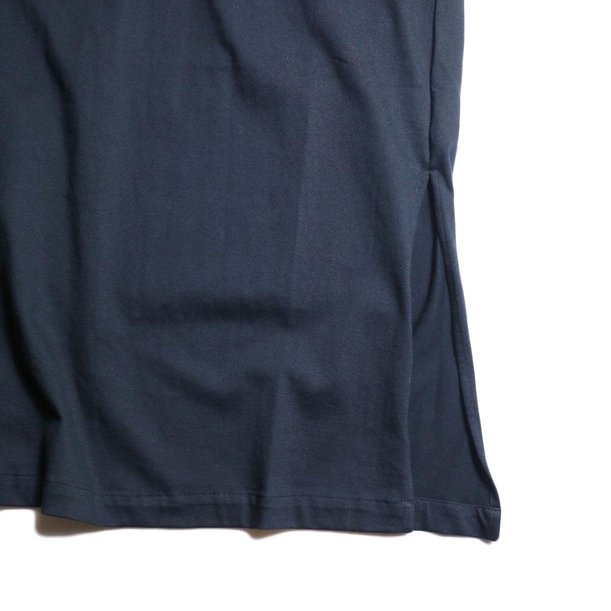 MY___ / YAAH LONG ONEPIECE TEE(navy) 裾