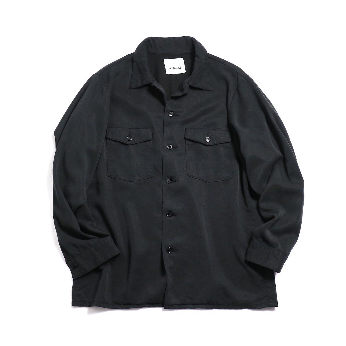 MYTHINKS (Men's) / MY Tencel Army Shirt -Black