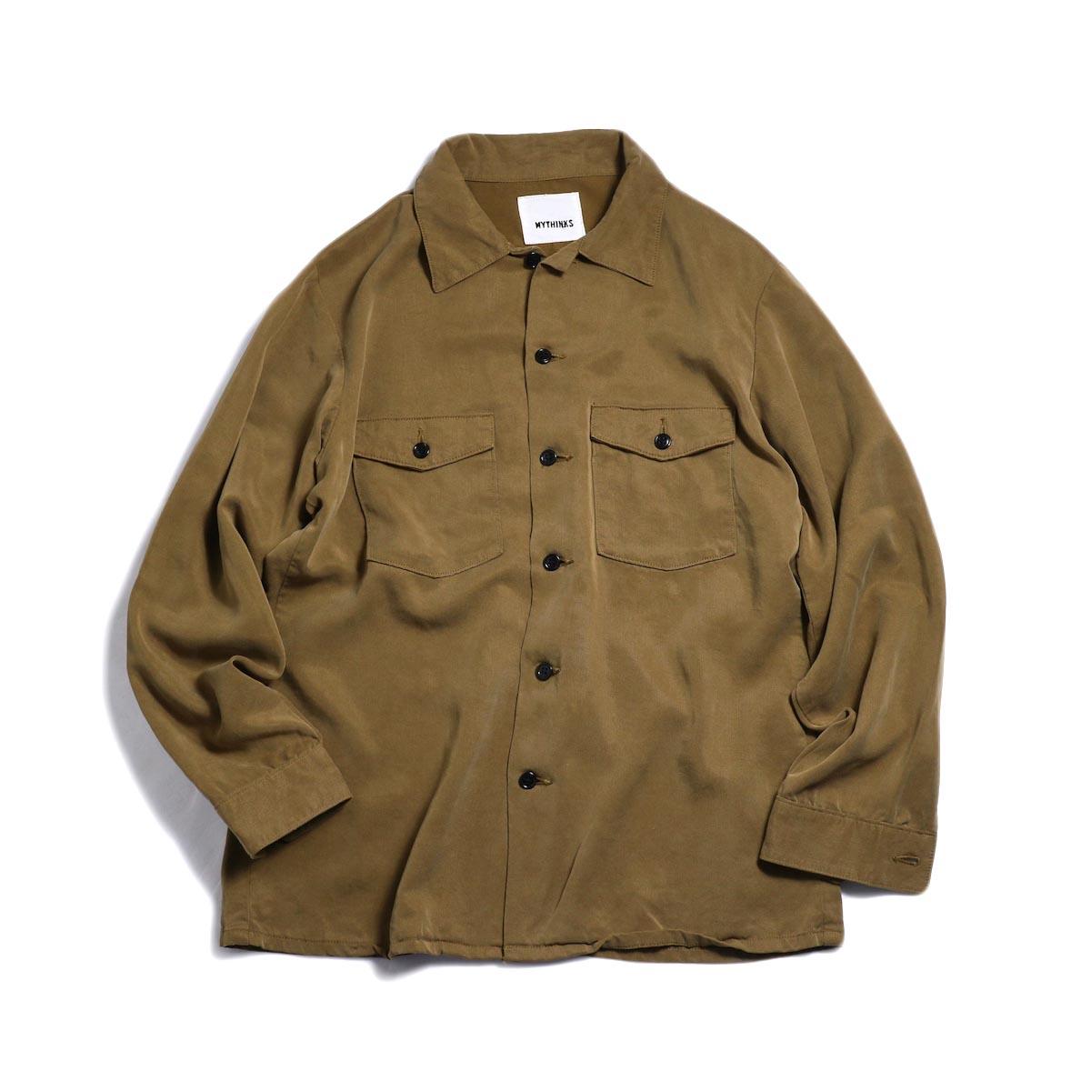 MYTHINKS (Men's) / MY Tencel Army Shirt -Brown