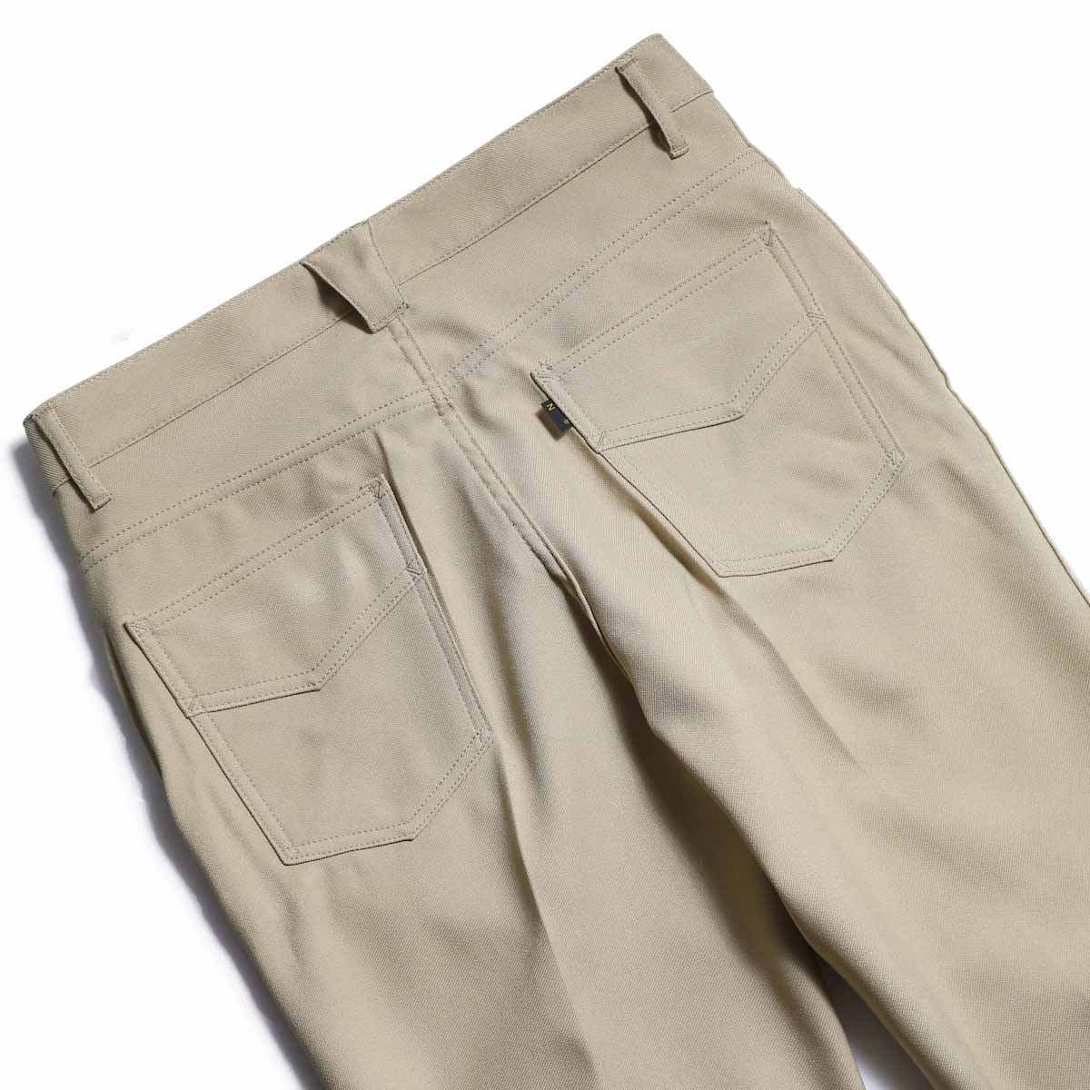 NEEDLES / Boot Cut Jean -Poly Twill (Beige) 背面