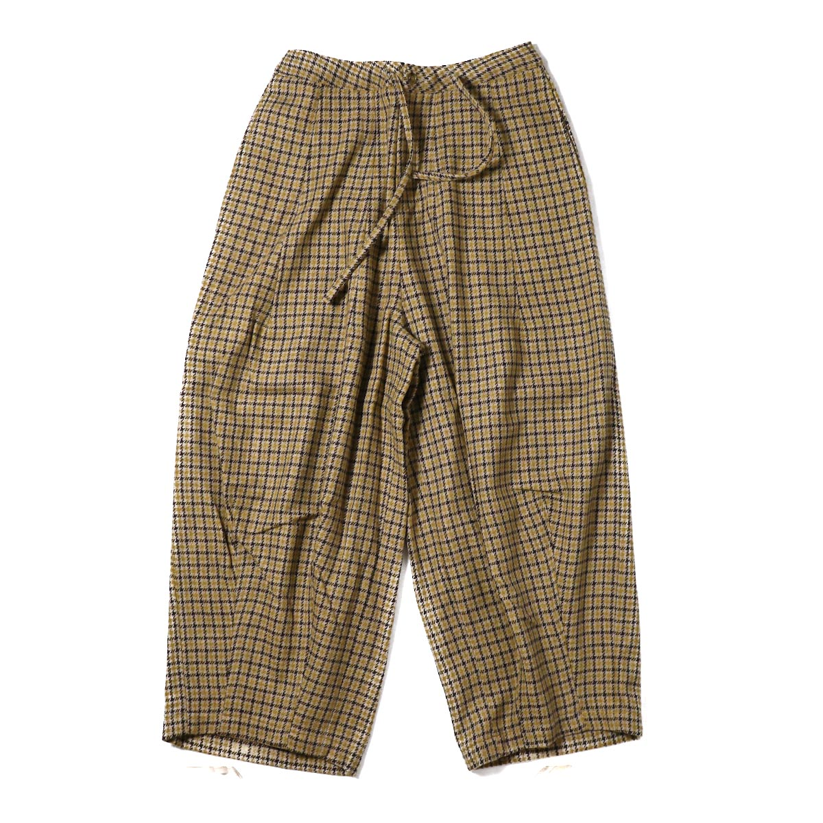 NEEDLES (WOMENS) / Darts Military Pant W/Pe/A/N Gun Club Plaid -BROWN / YELLOW