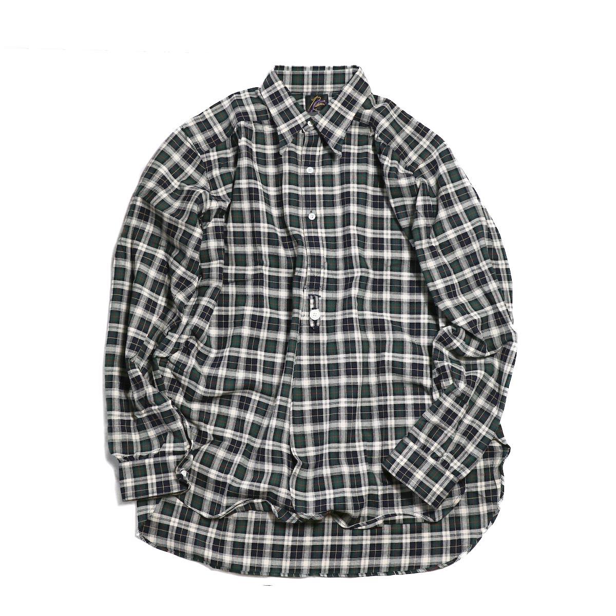 NEEDLES / Regular Collar Edw Gather Shirt Cotton Twill -DK.GORDON