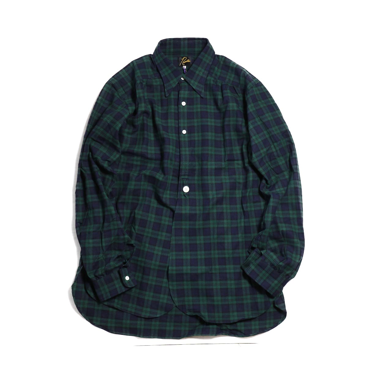 NEEDLES / Regular Collar Edw Gather Shirt Cotton Twill -BLACK WATCH
