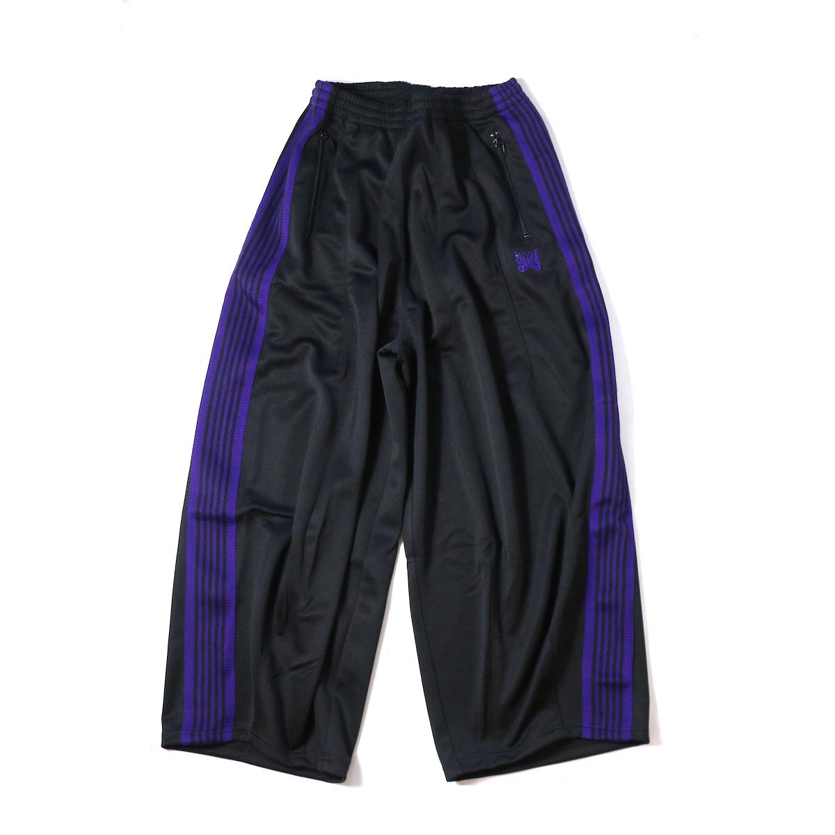 NEEDLES / H.D. Track Pant  Poly Smooth -Black