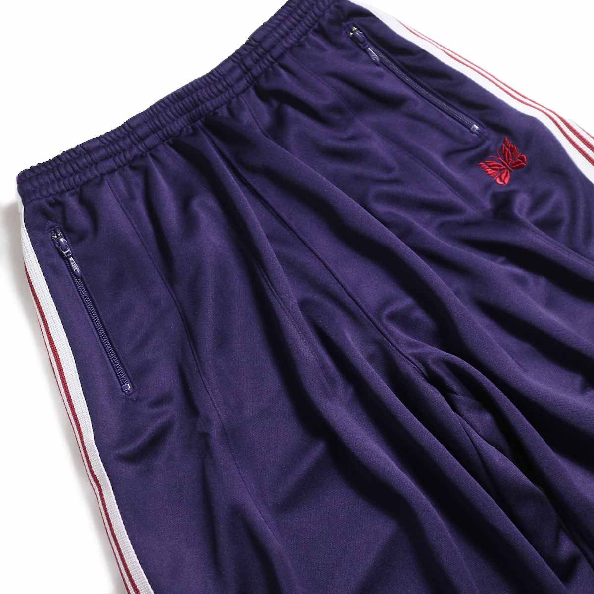 NEEDLES / H.D. Track Pant  Poly Smooth -Eggplant ウエスト