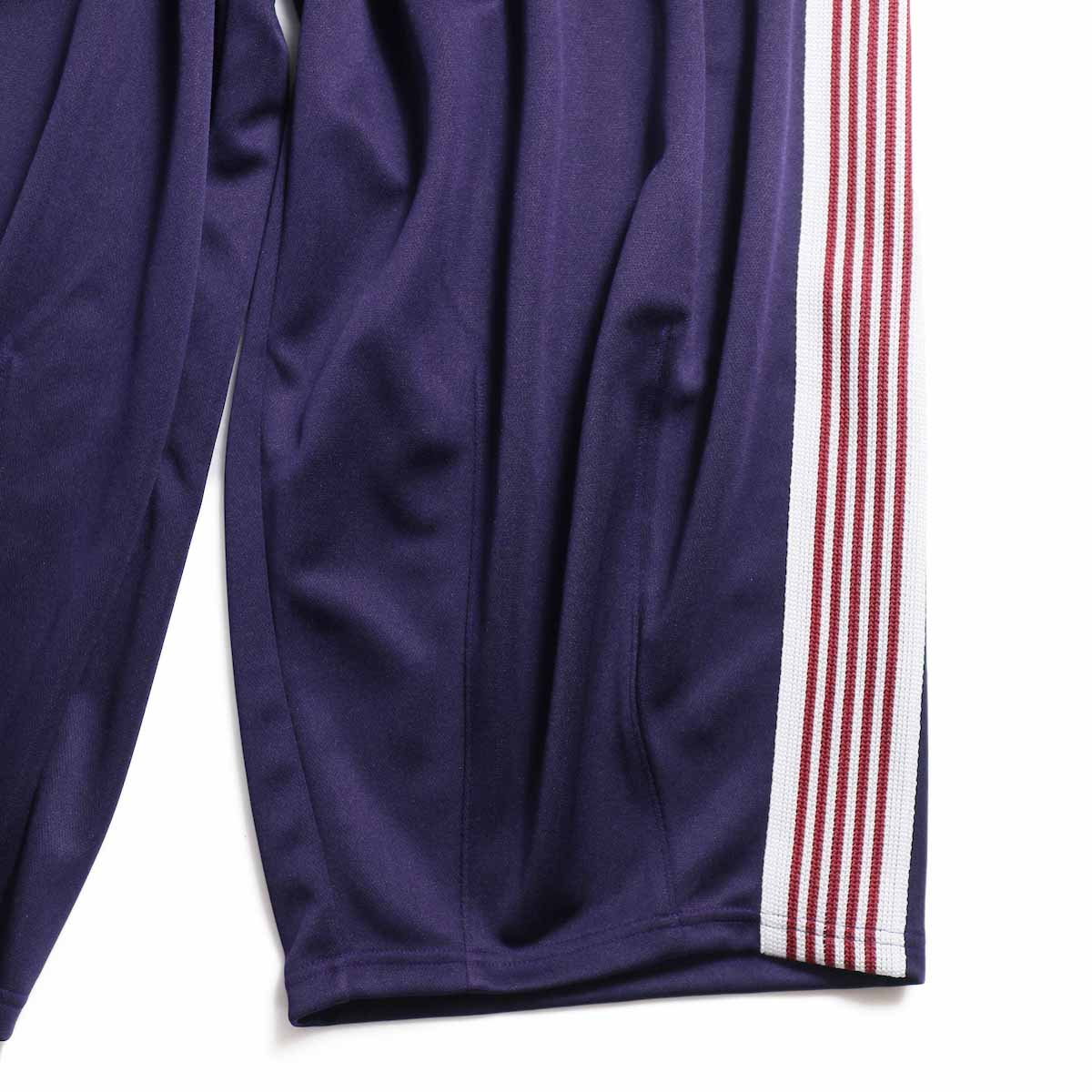 NEEDLES / H.D. Track Pant  Poly Smooth -Eggplant 裾